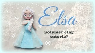 Elsa Frozen Polymer Clay Tutorial ☃