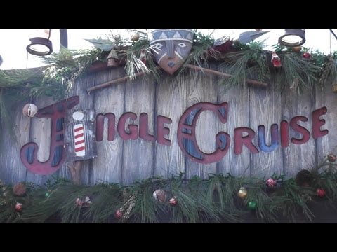 Full Jingle Cruise ride-through at Disney's Magic Kingdom for the holidays 2013