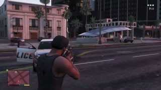 GTA 5 Robbing A Gas Station With 4 Stars, Lighting