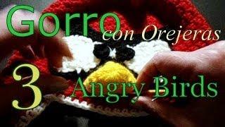 Como Tejer Gorro Angry Birds 3° Parte (crochet Earflap