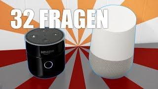 32 FRAGEN an Google Home und Amazon Echo