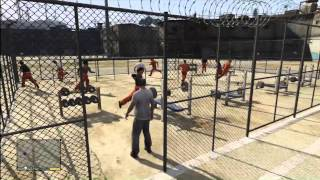 GTA 5: (EASTER EGG) Prison Fugitives, Inside Prison, Gym