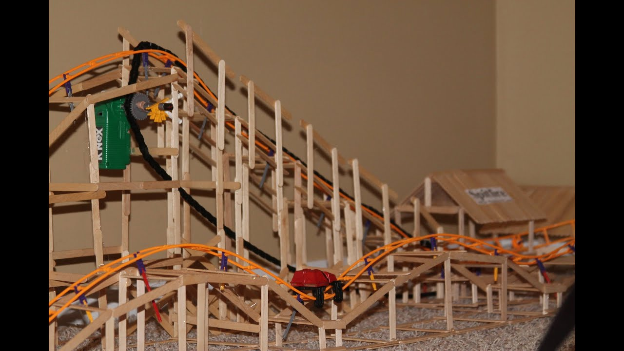 Real Wooden K'nex Roller Coaster SpitFire - YouTube