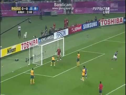 アジアカップ2011 日本VSオーストラリア 李決勝ゴール 1-0  長友