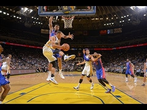 Stephen Curry Leads the Warriors Over the Pistons