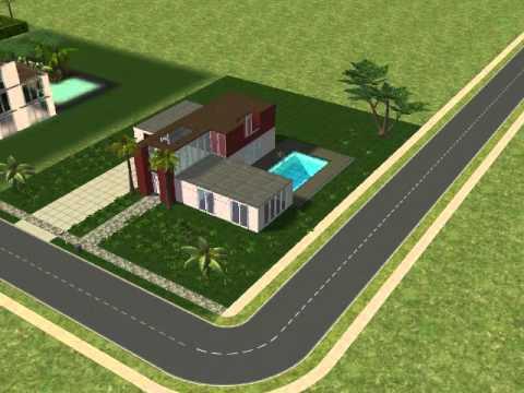 Sims 2 Modernes Haus Bau - YouTube