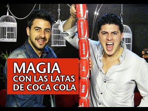 Magia con las latas de Coca Cola   Joe & Moy