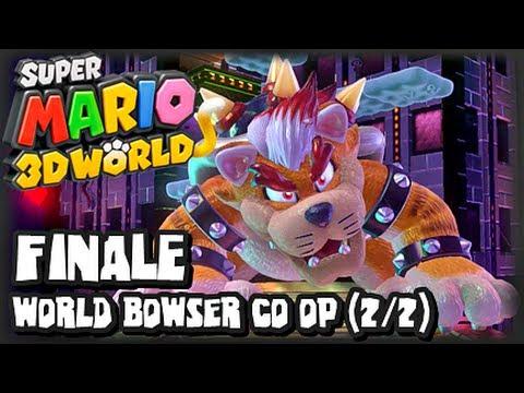 Super Mario 3D World Wii U - (1080p) Co-Op FINALE - World Bowser & FINAL BOSS