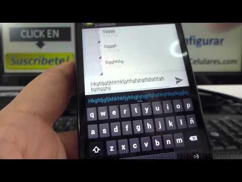 Como desactivar el sonido del teclado Motorola Moto G X T1032 En Español Full HD