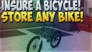 GTA 5 ONLINE : STORE / INSURE ANY BICYCLE IN GARAGE GLITCH