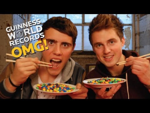 M&M's Chopstick Challenge // The Record Slam (Ep10), Alfie & Marcus try their luck with the M&M chopstick challenge! SUBSCRIBE and stay in tune for more ► http://bit.ly/GWROMG SUGGEST some records for the guys ...