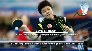 ITTF 2014 Youth Olympic Games Qualification - Day 2 Afternoon Session