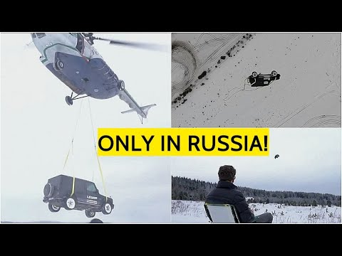 CRAZY! Russian Blogger Drops PREMIUM Mercedes G Wagon From Mi-8 Helicopter To The Ground!