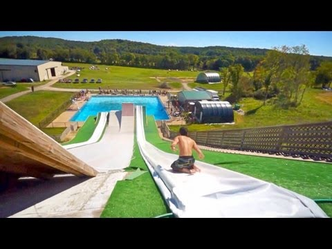 Epic Slip 'N Slide Pool Party!!
