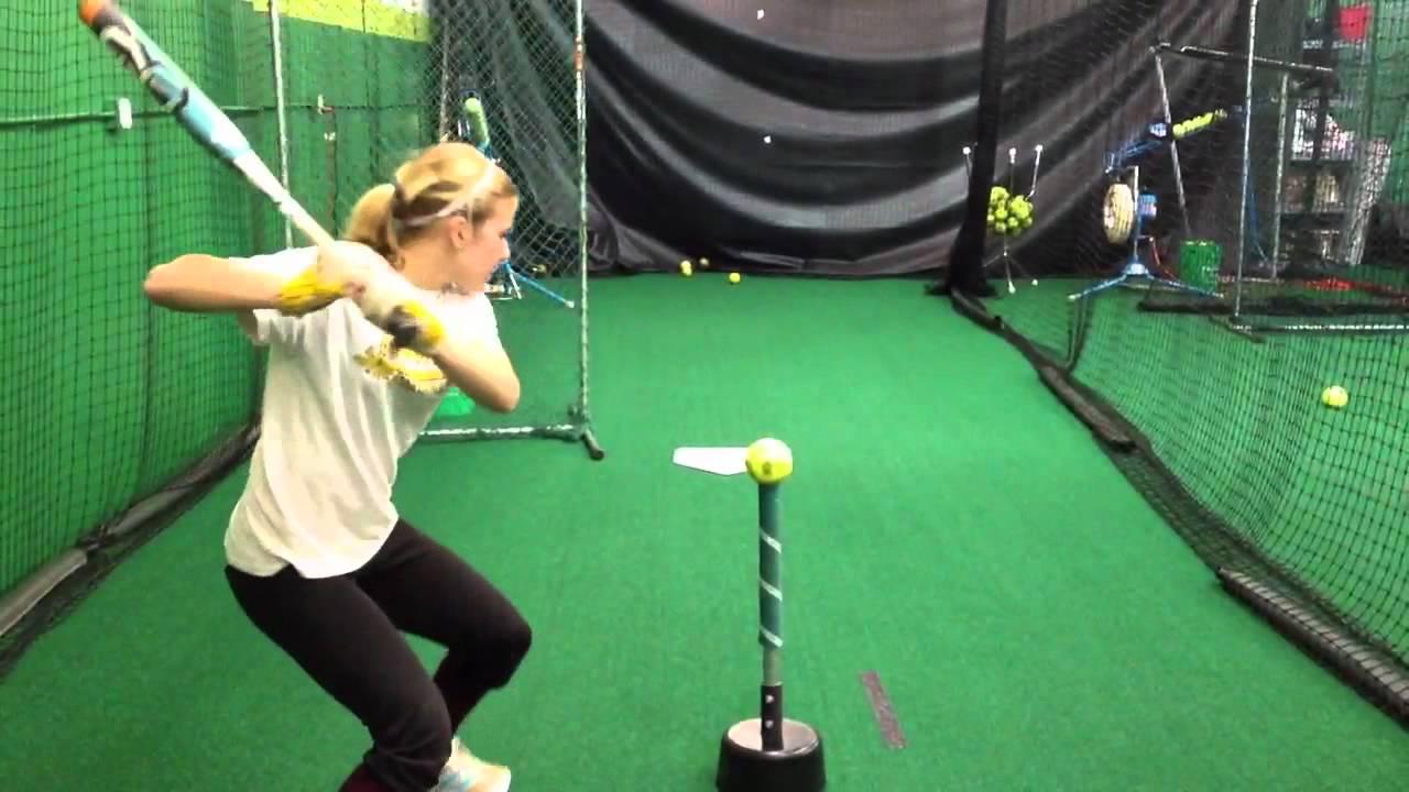 allison harvey - power line softball hitting drill
