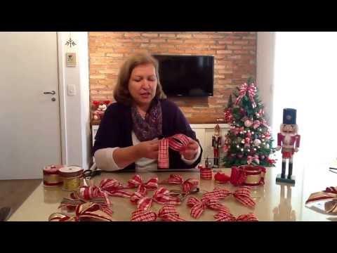 Lindo laço de Natal em um minuto
