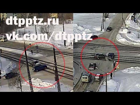 Выехавший на запрещающий сигнал светофора водитель спровоцировал двойное ДТП