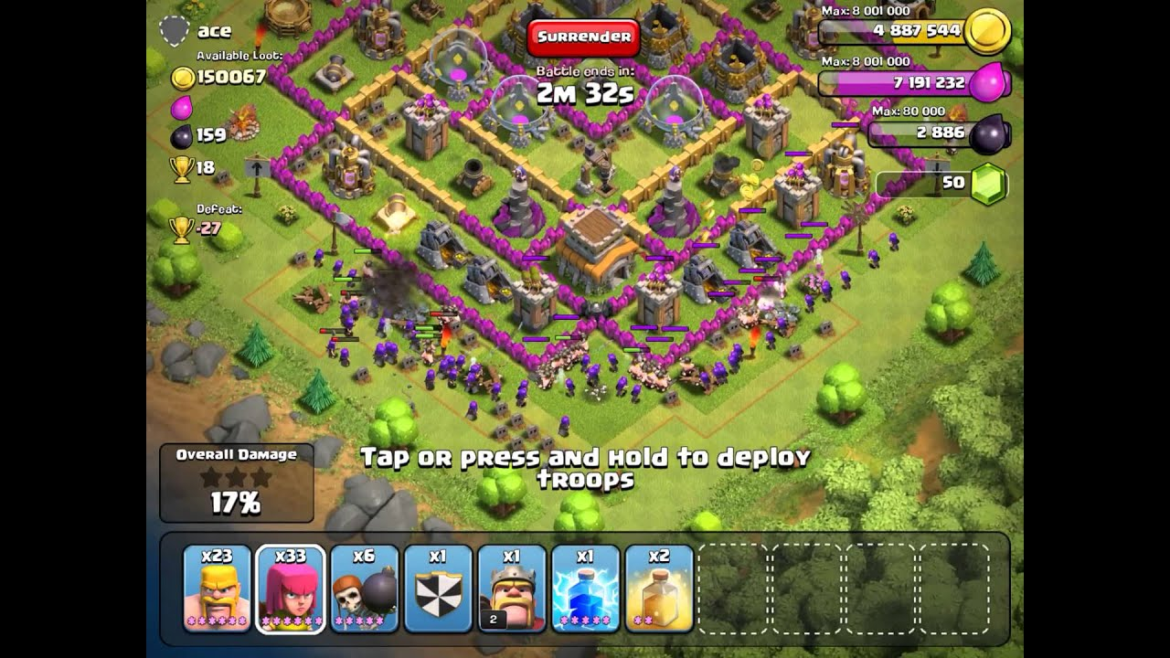Clash of Clans Town Hall 6 Defense