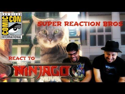 SUPER REACTION BROS REACT & REVIEW The LEGO Ninjago Movie Trailer 2!!!!