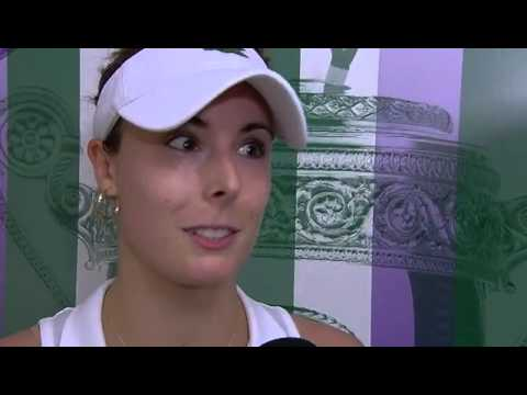 Alize Cornet on a huge win over Serena Williams - Wimbledon 2014