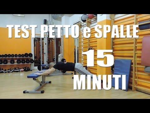 Allenamento Pettorali e Spalle in 15 minuti - Test muscoli di Spinta