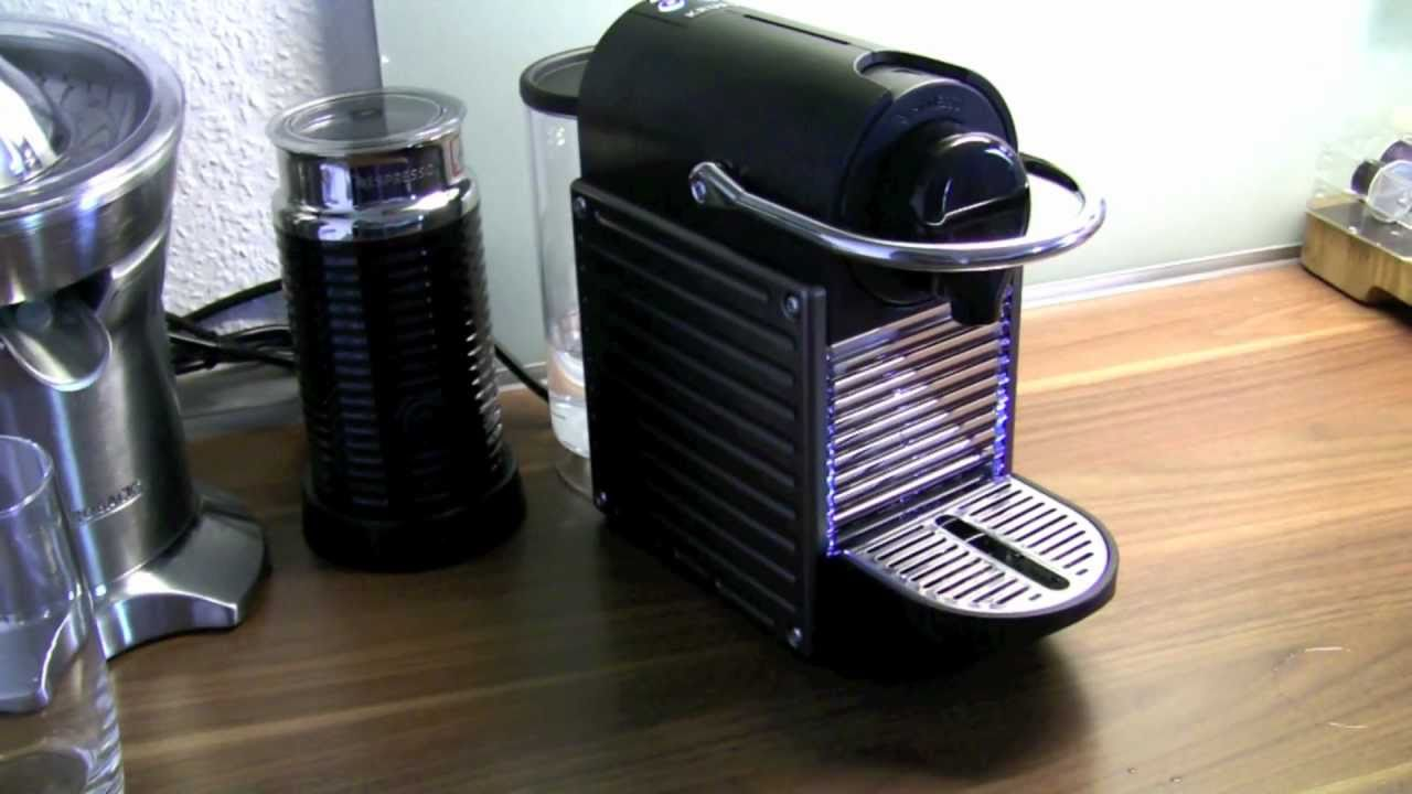 nespresso pixie made by krups personal review youtube. Black Bedroom Furniture Sets. Home Design Ideas