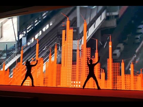 Video mapping interactive performance in bangalore