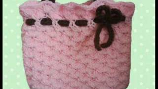 Pink Bag With Bow Crochet Pattern By HandmadeKitty