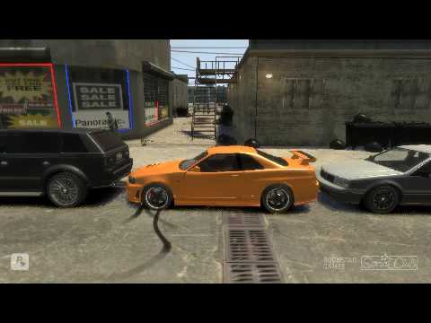 Gta 4 Parking, Parken mal anders ! :D car mods mod Grand theft auto IV Mit vorder antrieb xD Nissan Have fun !