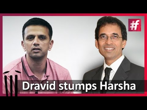 Rahul Dravid stumps Harsha Bhogle
