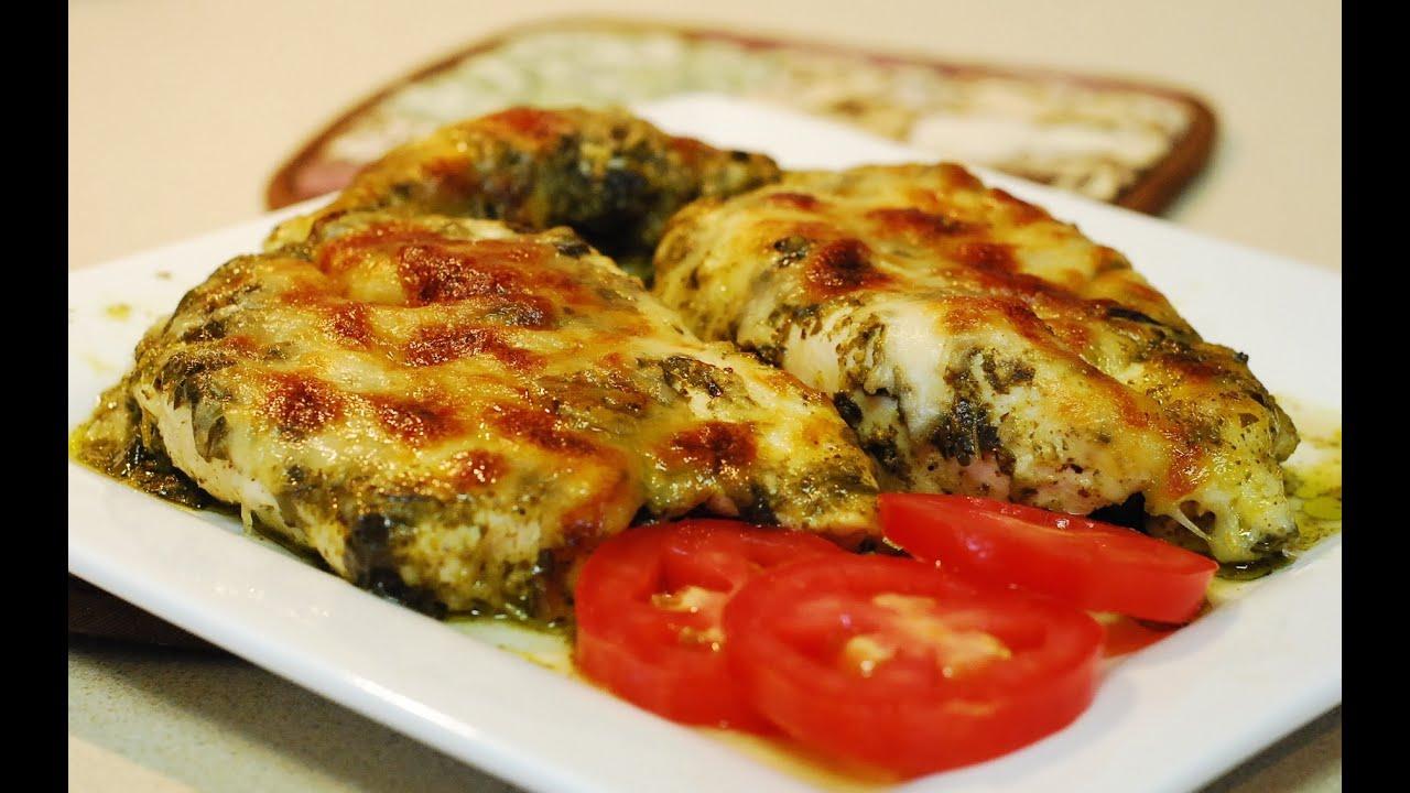 Pesto Chicken Bake ~ Low Carb Recipe - YouTube
