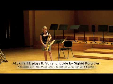 ALEX FYFFE plays II Valse languide by Sigfrid Karg Elert
