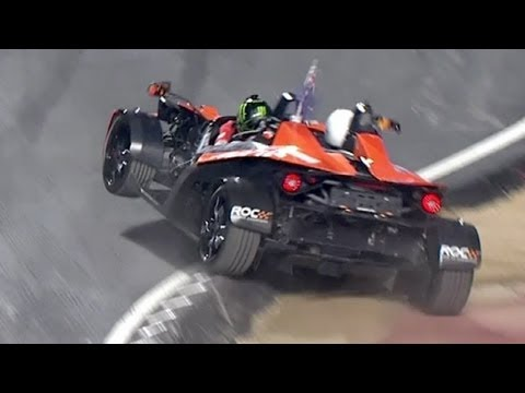 Jamie Whincup Crash in KTM X-BOW - 2012 Race of Champions
