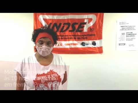Djalma Prado convoca todos e todas os/as agentes de apoio para a mobilização do dia 20 de julho