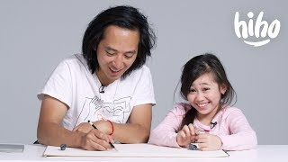 Kids Describe Their Parents to an Illustrator | Kids Describe | HiHo Kids