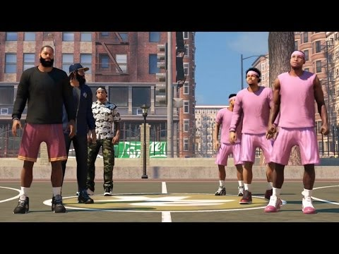 NBA 2k14 The Park Xbox One Gameplay - Crazy Alley Oop Dunks | Bearded Bandits Unstoppable