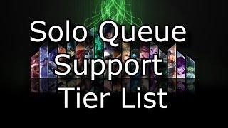Solo Queue Support Tier List Patch 4.11 League Of