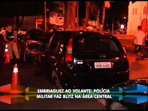 Embriaguez ao volante - PM faz blitz na área central de Uberlândia