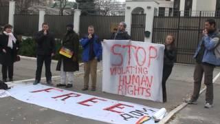 Protest Hyde Park la ambasada Rusiei, Moldova