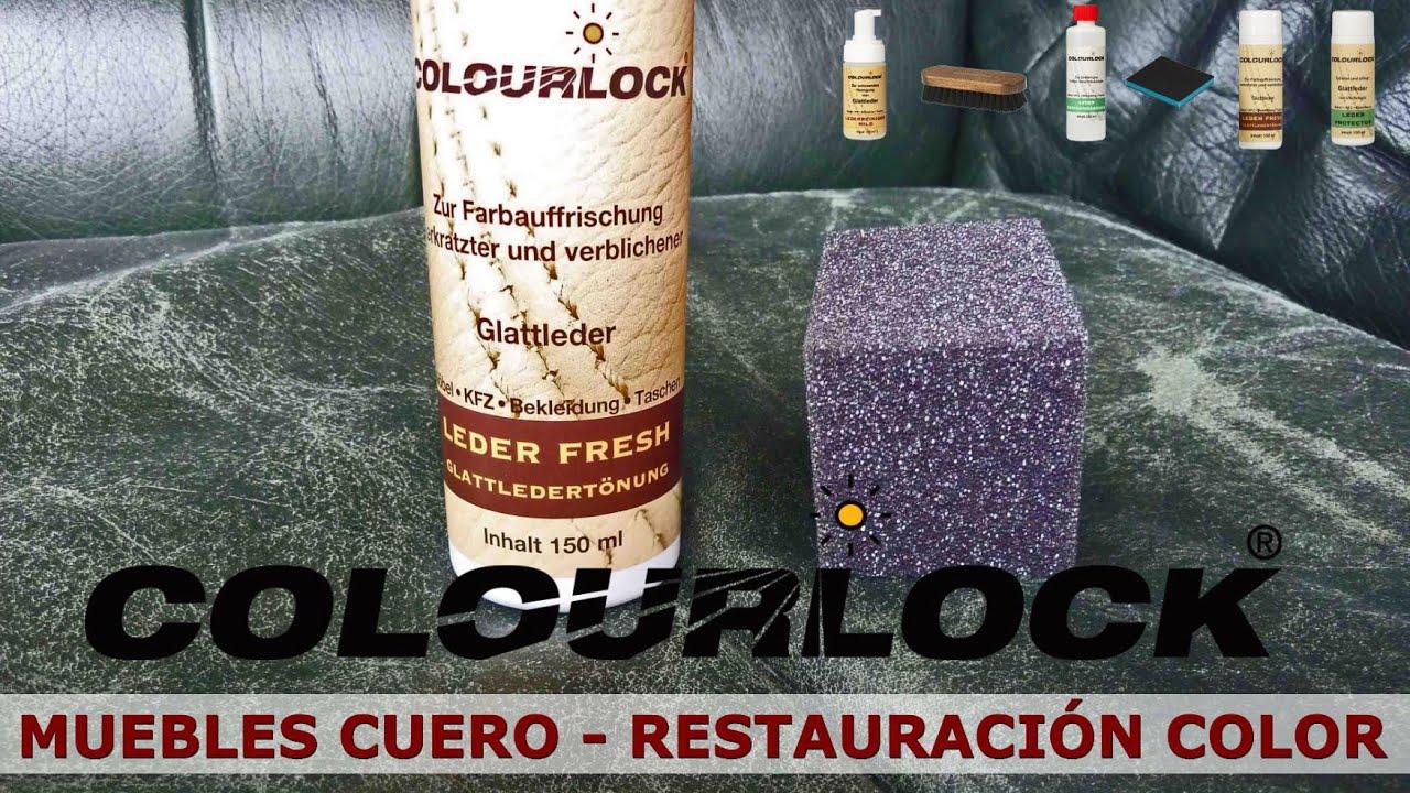 muebles de cuero y piel - restauración de color - www.cueroliquido.com - YouTube