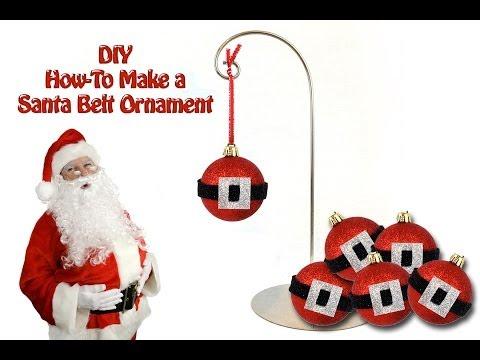 DIY How To Make a Santa Belt Ornament - Hogyan csinálj mikulás gömbdíszt