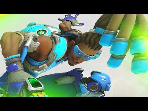 Overwatch - 'AZUL' Lucio Gameplay (COMMON SKIN)