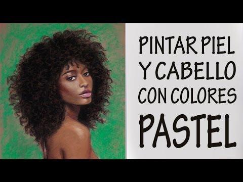 CÓMO PINTAR PIEL NEGRA CON PASTEL. Belleza afroamericana.