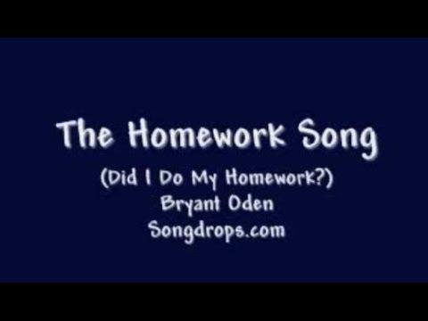 google homework song