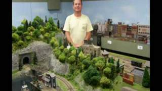 HO Scale Model Railroad Layout Video Of The PRR 1945-1955
