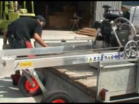 Portable Sawmill Trailer Transportation Instructions - ATS