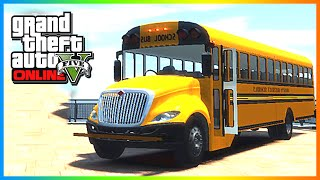 GTA 5: MODDED CARS Custom School Bus & Police Cars! GTA