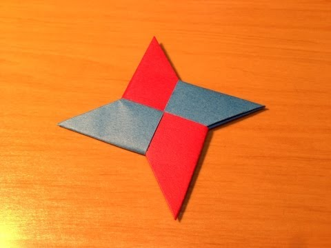how to make an origami throwing star video