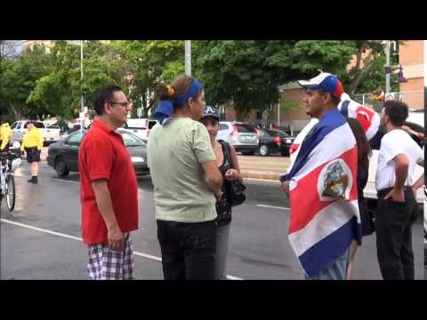 Costa Rica en Cuartos de Final Brasil 2014 Celebracion En Toronto Canada