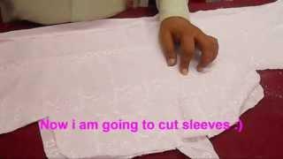 Simple Salwar Kameez Cutting Method-Easy And Quick Kameez